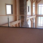 indoor upstairs floor with metal cable railing